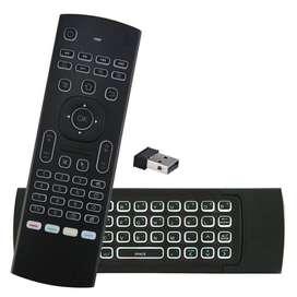 Mx3 Control Remoto De Voz Iluminado Teclado Air Mouse Giroscopio