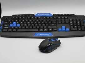 Combo teclado+mouse inalámbrico gamer
