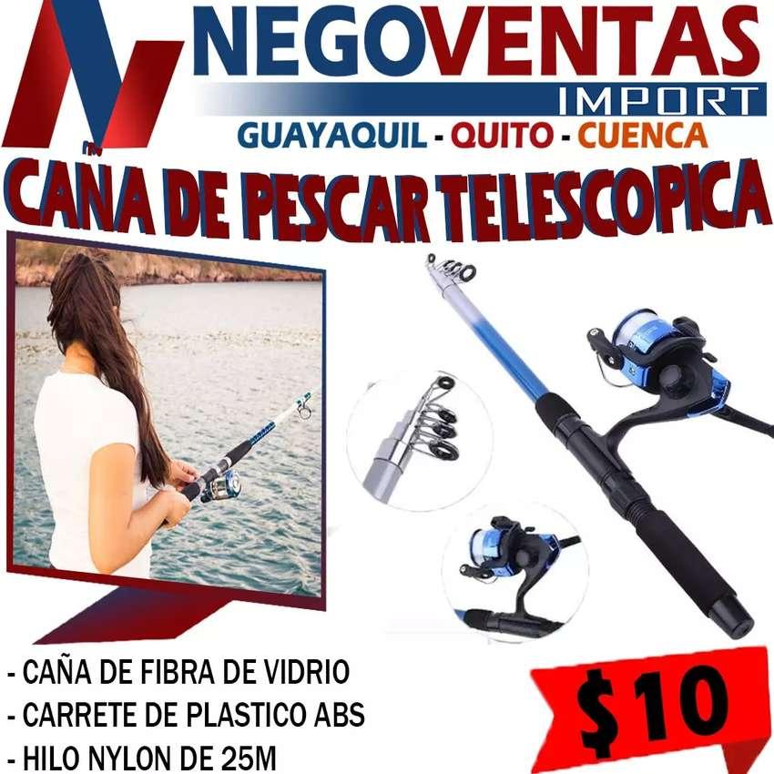 CAÑA DE PESCAR DE 2 METRO TELESCOPICA AGUANTA HASTA 3 LIBRA 0