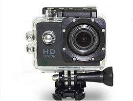 Cámara de Acción Deportiva HD 1080P, Acuática 30 m con accesorios, Action sport cam HD 1080p
