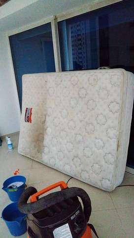 limpieza de  colchones muebles cojines de carro y alfombras