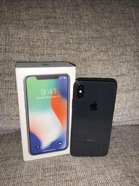 Iphone X de 256gb con caja y accesorios