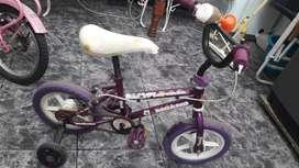 Hermosa bicicleta para 3 años a 6
