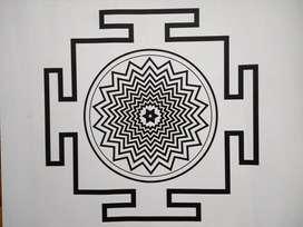 Yantra Shiva En La Manifestación Lámina/  Póster 62.5 X 49.5 Cm