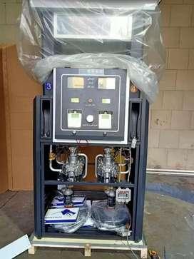 Dispensador surtidor combustible dos productos cuatro mangueras