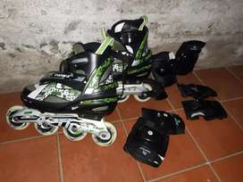 Rollers 7Abec daiwa extensibles 38-42