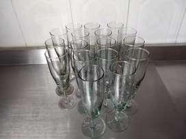 Copas en vidrio
