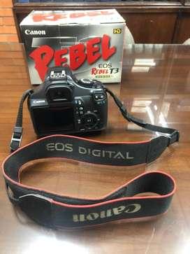 Camara Canon Rebelt T3 + lente adicional