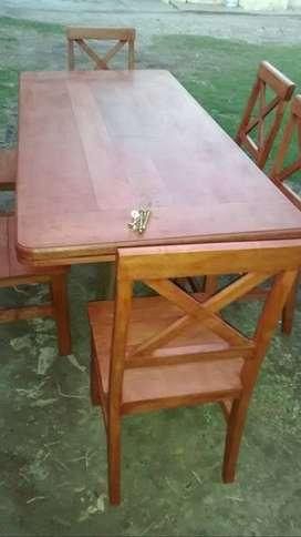 ultima mesa grande y 6 sillas algarrobo robusto nuevo