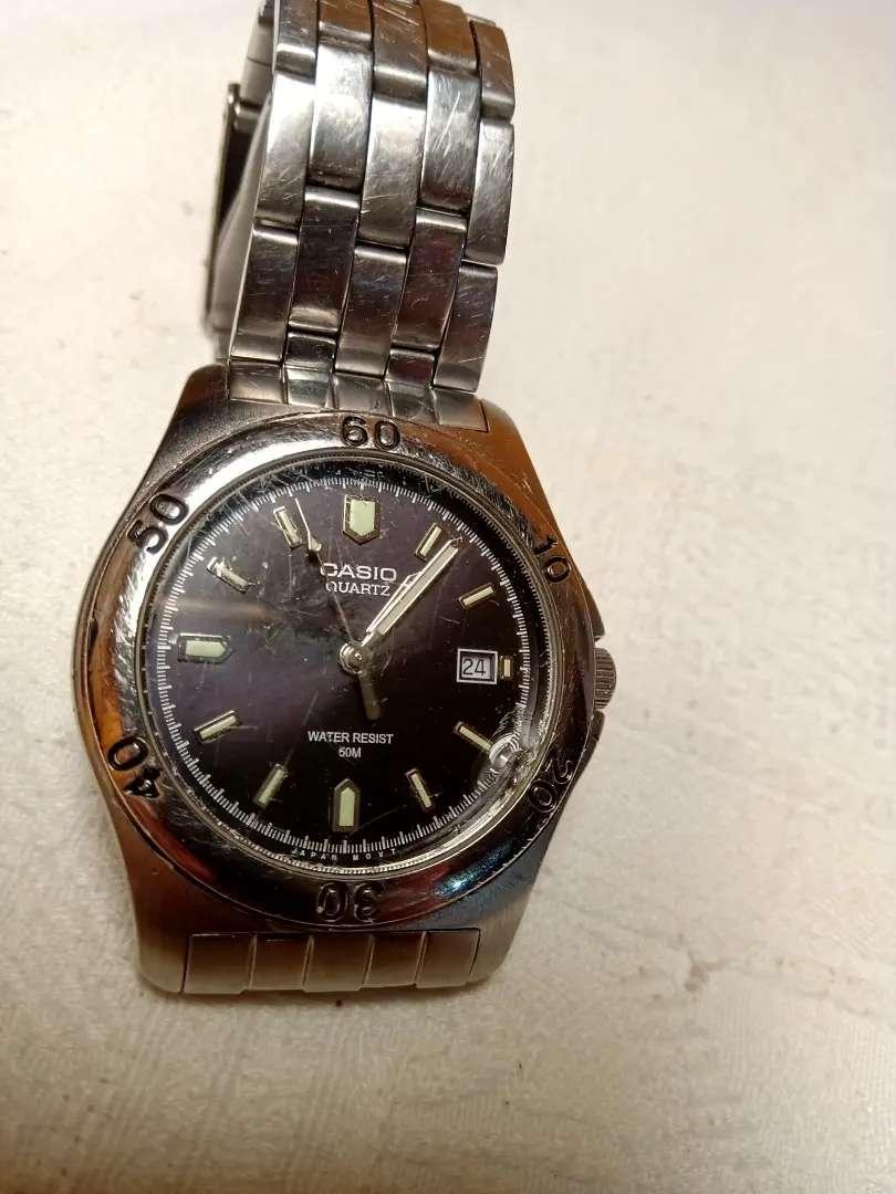 Reloj casio MTP-1213 con detalles estéticos leer bien