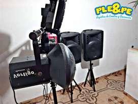 Alquiler de luces y sonido Dj y animador profesional montaje de luces neón Bogotá para todo tipo de evento meseros