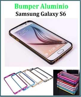 Funda Bumper Aluminio Con Botones Samsung S6 Edge TRIBUNALES