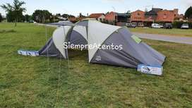 Carpa Familiar Alpes Uyuni 8 Personas 610x220x170 Cm