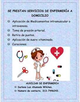 Auxiliar de enfermería domiciliaria