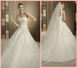 Vestido de novia White One Modelo Triana Talla 14