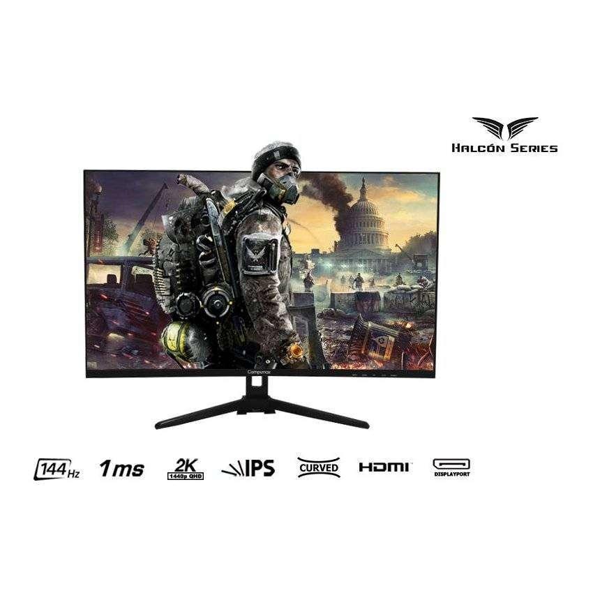 Halcón Series Monitor Gaming Led Compumax 32 Curvo 2k 144hz