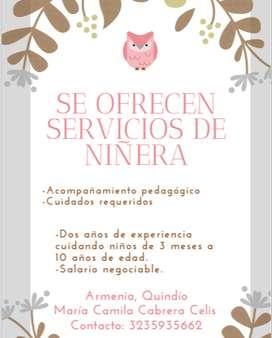 Se ofrecen servicios de niñera
