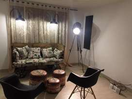 Hermoso Sofá Vintage + Lámpara Vintage / Negociable