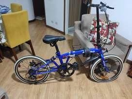 Bicicleta Plegable Azul