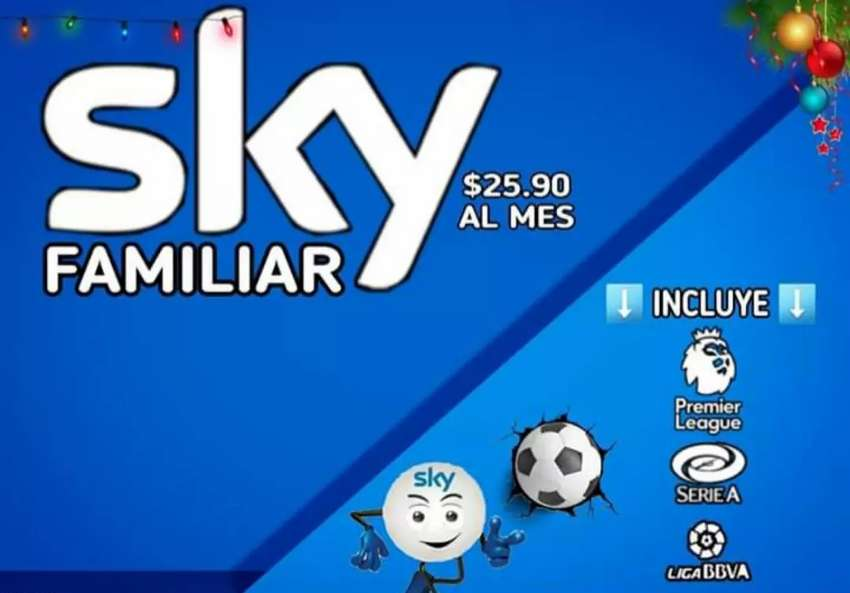 Cable Sky desde $25.90 0