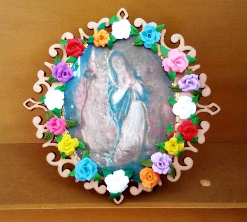 Porta Retratos de la Virgen inmaculada de la piedra de Soatá Boyacá Colombia 0