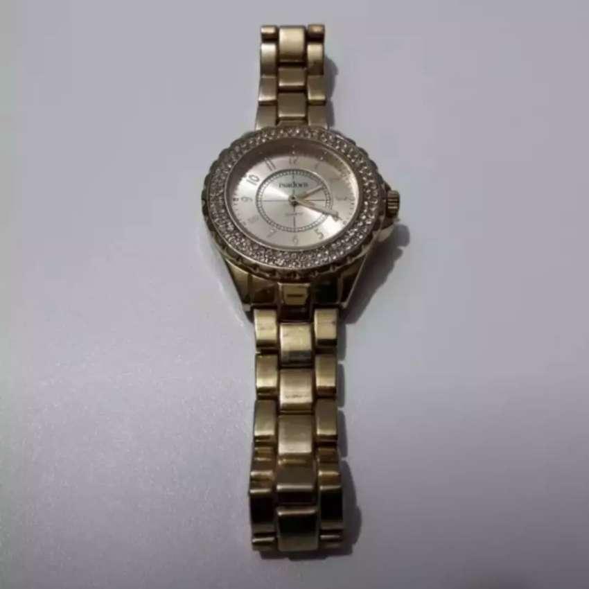 Reloj Dorado Le Falta 1 Aguja Pero Anda 0