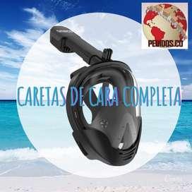 Máscara de Snorkel Recreacional de Cara completa Nuevas Entrega Inmediata Bogotá sector Salitre