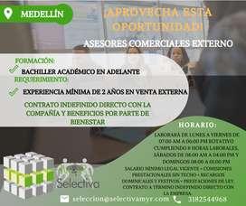 Asesor/a Comercial externo Medellín - Con experiencia en venta de intangibles