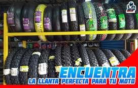 LLANTAS PARA MOTO LINEAL PIRELLI / DUNLOP / MICHELIN / TIMSUN / CROOS O ENDURO / MT60 / ALFA 14 / MT21 ( NO MITAS )