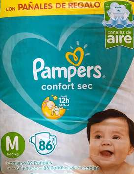 Pañales Pampers M x 86