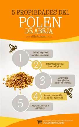 Polen de abejas 100% natural y fresco