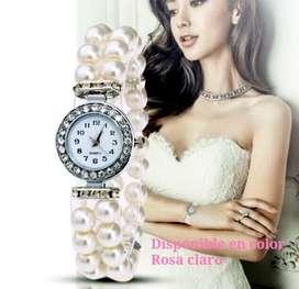 Reloj Perlas Damas