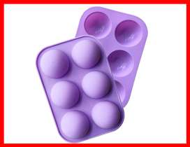 1 moldes de silicona semiesfera, 6 cavidades, para hacer bombas de chocolate caliente, pasteles, gelatina, cúpula mousse