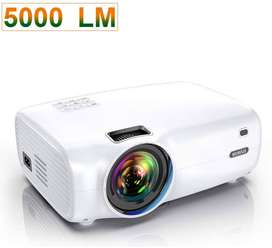 """Proyector, WiMiUS P30 5000 Lumens Mini Projector Soporte 1080P Full HD 200""""  - 60,000 Hrs - LED"""