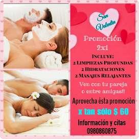 Promociones 2x1 Limpieza Facial Profunda+Hidratación Facial+Masaje Relajante