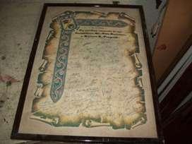 pergamino antiguo, con  marco