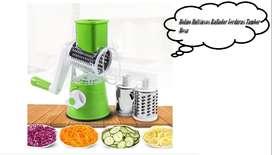 Molino Multiusos Rallador Verduras Tambor Mesa El rallador de tambor rotativo es una herramienta de cocina eficiente con