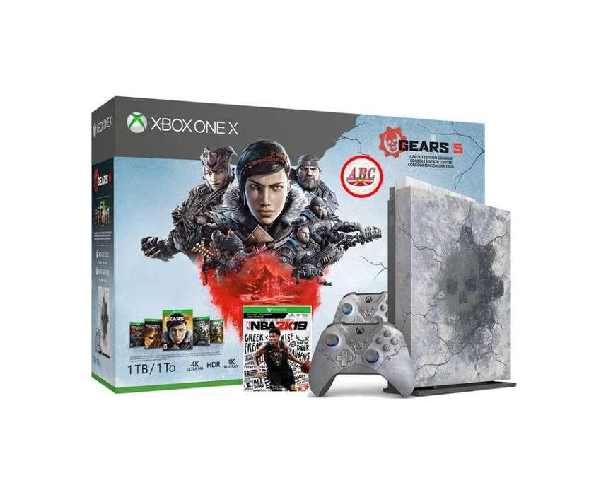 Consola Xbox One X 4k 1tb Gears Of War 5 Edicion Especial + Extra 0