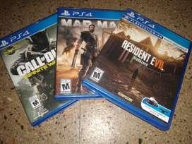 Vendo 3 juegos de ps4