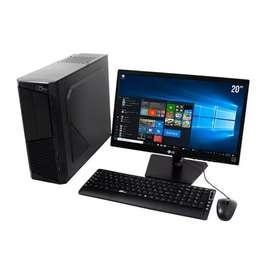 Oferta computadoras bueno bonito barato hp con monitor lcd teclado mauso garantía