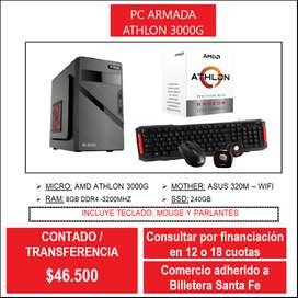 PC ATHLON 3000G 8GB RAM 240GB SSD