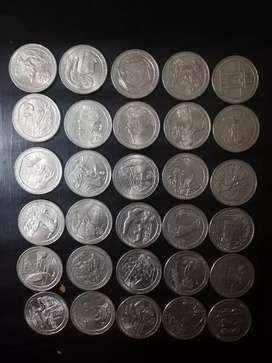 Intercambio de monedas de 25 centavos