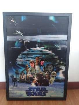 cuadro STAR WARS (3d - holograma) 51 cm x 71 cm