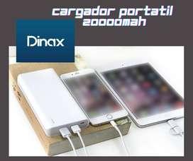 CARGADOR PORTATIL DINAX Power Bank 20.000 mAh. Con garantía y entrega a domicilio.