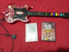 Guitarra playstatión 2 aerosmith con juego original
