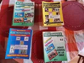 Cuatro colecciones de faciculos de Electrónica