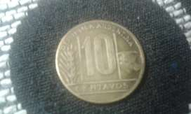 Moneda Argentina De 10 Centavos Año 1947 Torito