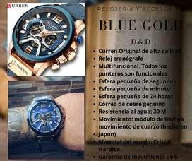 Reloj CURREN Original BLUE GOLD hombre