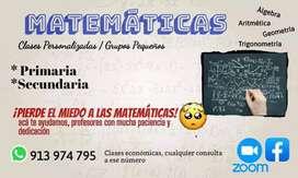 Matemáticas clases particulares