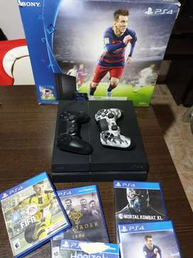 Vendo ps4 impecable